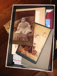 Dusty cardbox box of ancestors
