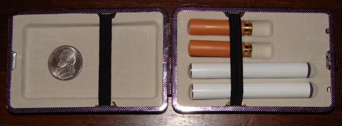 E-cigarette in the nifty case.