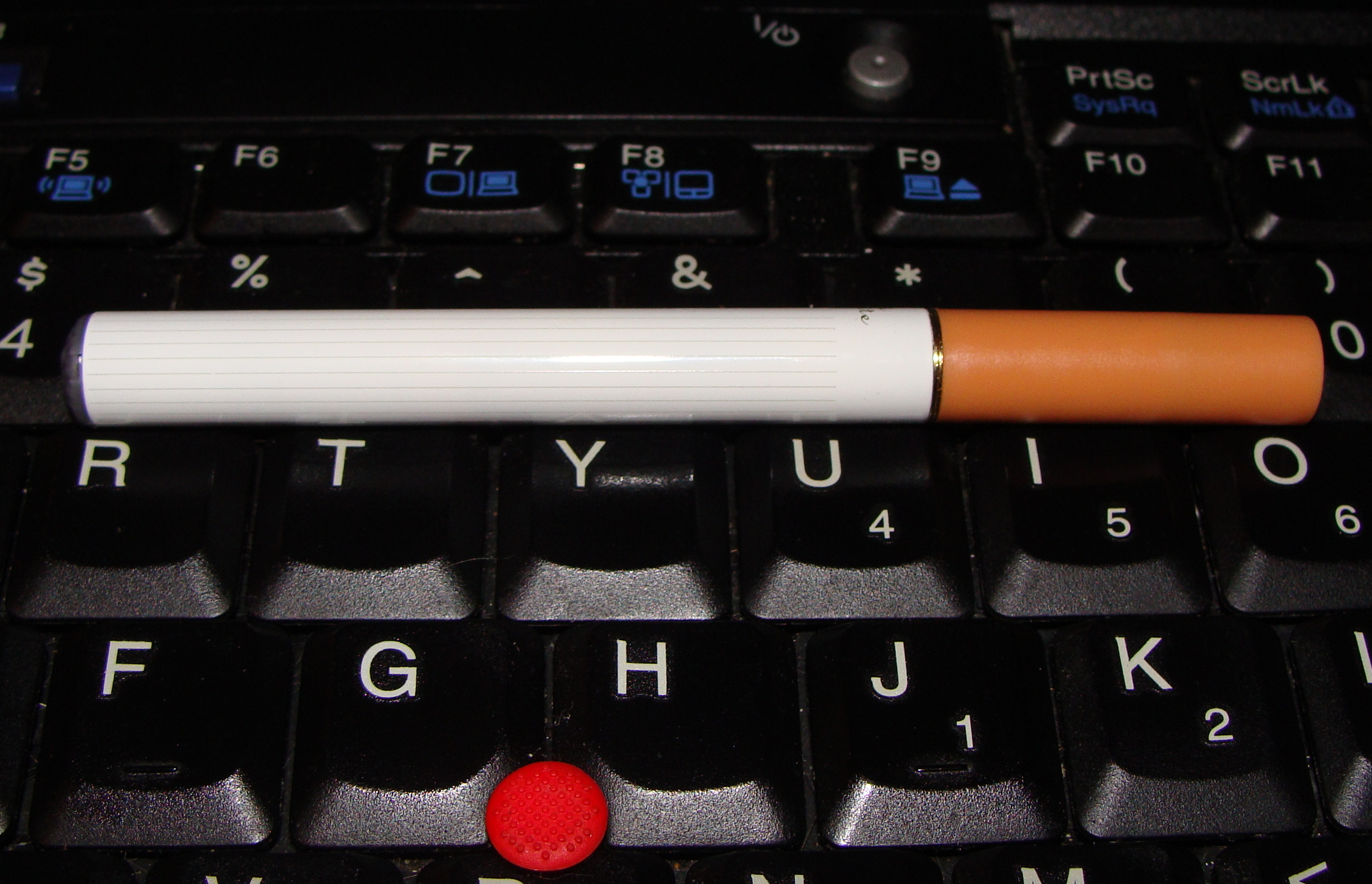 The perfect cigarette for one who composes at the keyboard?  We'll see.