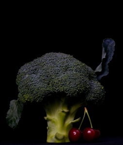 What are the odds of finding a photo of broccoli WITH cherries? http://www.flickr.com/photos/marcoveringa/3091439509/sizes/l/