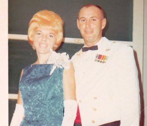 The oh-so-chic parents for the Marine Corps Ball.