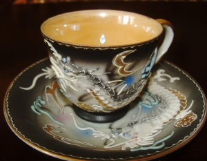 The even more special dragon cup (and tea service).