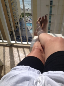 toes on the balcony