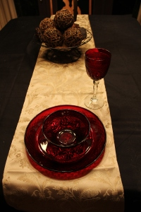 The Ruby Red Christmas Dishes